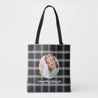 I am quietly judging you - black tote bag