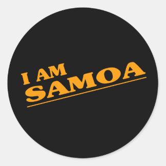 I am Samoa Round Sticker