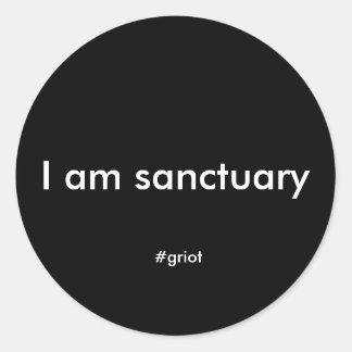 I am sanctuary sticker