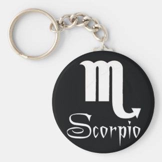 I am Scorpio Basic Round Button Key Ring
