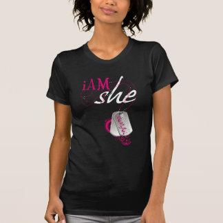 I am she- A military woman T-Shirt