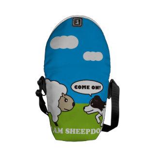 I AM SHEEPDOG. messenger bag (S) OUTSIDE