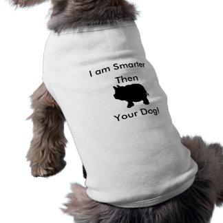 I am Smarter Then Your Dog, Mini Pig Tank Top Sleeveless Dog Shirt