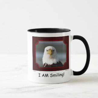 """I AM Smiling!"" Bald Eagle Mug"