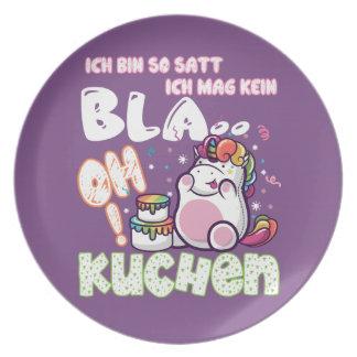 I am so full… Unicorn plate