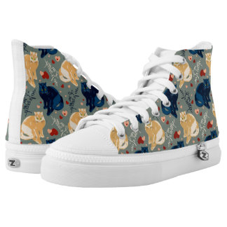 I am so pretty cat! printed shoes