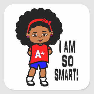 I AM SO SMART! Girl stickers