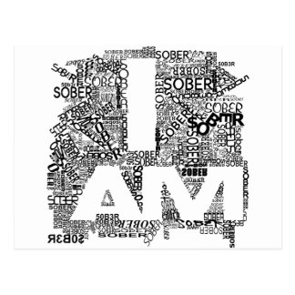 I AM SOBER POSTCARD