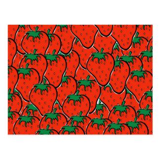 I am strawberry postcard plain