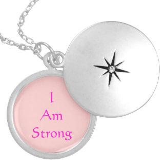 I AM STRONG Brave Locket Necklace for Girl Present
