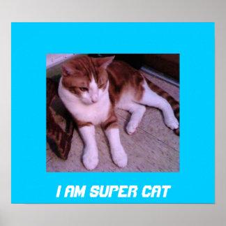 I Am Super Cat Poster