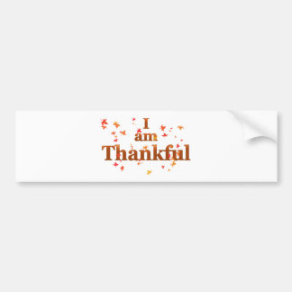 i am thankful bumper sticker