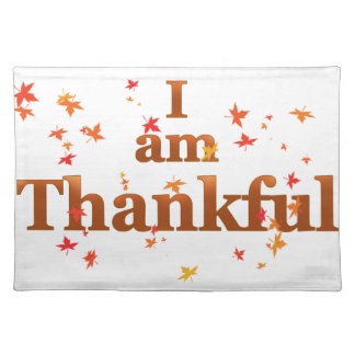 i am thankful placemat