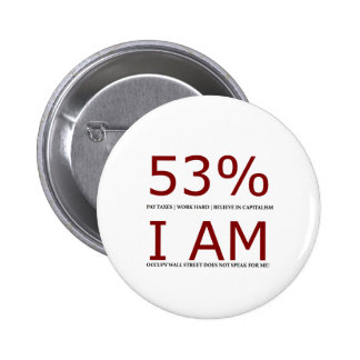 I am the 53% 6 cm round badge