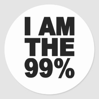 I am the 99% (Occupy Wall St) Sticker