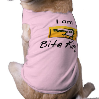 "I am ""The Bite King"" Funny Dog Tshirt"