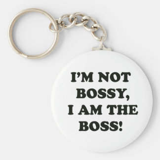 I Am The Boss Key Ring