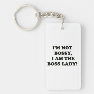 I Am The Boss Lady Key Ring