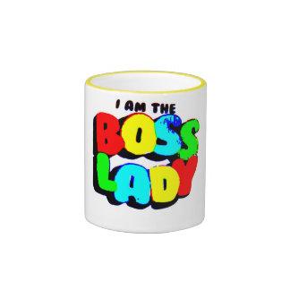 I Am The Boss Lady Ringer Mug