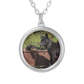 I am the boss silver plated necklace