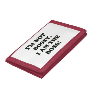 I Am The Boss Trifold Wallet