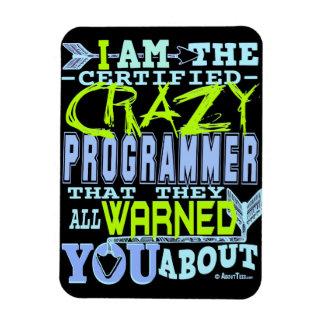I am the Crazy Programmer Rectangular Photo Magnet
