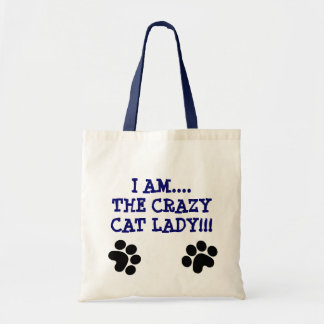 I AM....THE CRAZYCAT LADY!!! TOTE BAG