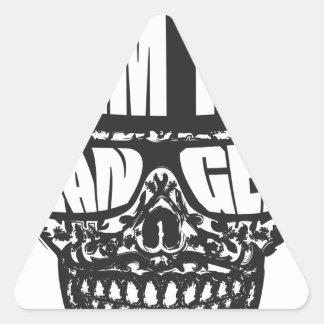 I am the Danger Triangle Sticker