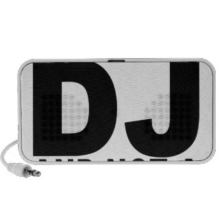 I am the DJ and not a jukebox Men png Mini Speakers