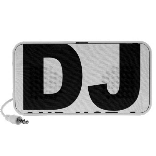 I am the DJ and not a jukebox Men.png Mini Speakers
