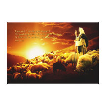 """""""I am the good shepherd. Wrapped Canvas Gallery Wrap Canvas"""