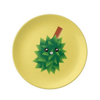 I Am The King of Fruits Cute Kawaii Durian Manga Plate