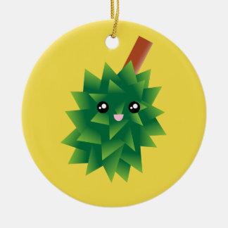 I Am The King of Fruits Durian Kawaii Manga Ceramic Ornament