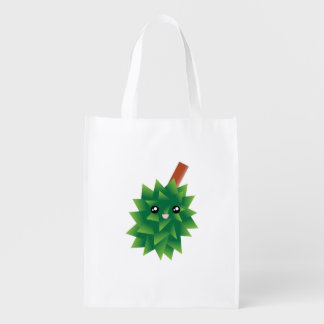 I Am The King of Fruits Durian Kawaii Manga Reusable Grocery Bag
