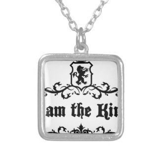 I am The King Silver Plated Necklace