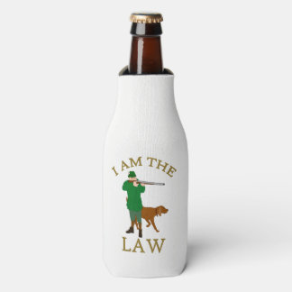 I am the law with a farmer with a gun bottle cooler