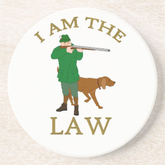 I am the law with a farmer with a gun coaster