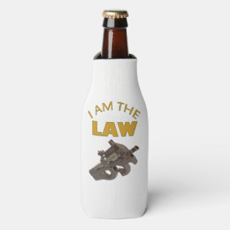 I am the law with a m4a1 machine gun bottle cooler