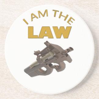 I am the law with a m4a1 machine gun coaster