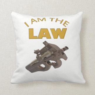 I am the law with a m4a1 machine gun cushion