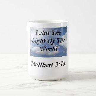 I Am The Light Of The  World Basic White Mug
