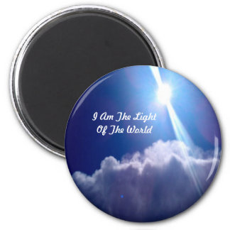 """I Am The Light Of The World"" magnet"