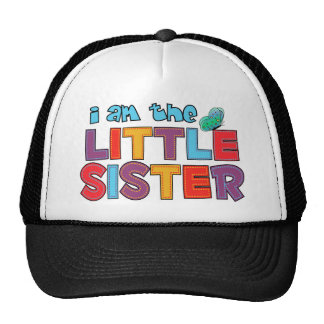 I am the Little Sister Butterfly Mesh Hats