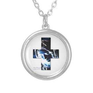 I am the mother silver plated necklace