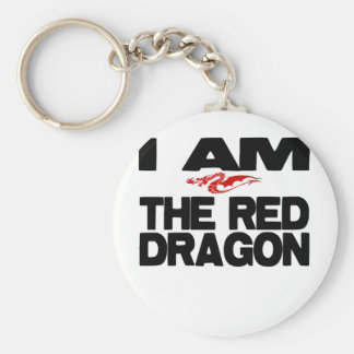 I Am the Red Dragon Basic Round Button Key Ring