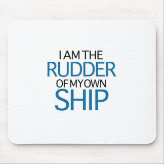 I Am The Rudder Of My Own Ship (blue edition) Mousepads