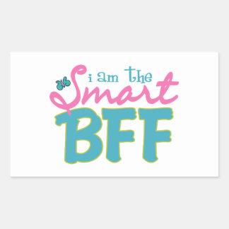 I am the Smart BFF Rectangular Sticker