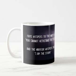 """I am the Storm"" quote and lightning storm Coffee Mug"
