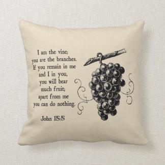 I Am The Vine Christian Decorative Throw Pillow