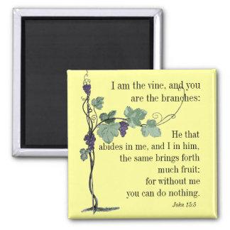 I am the Vine  John 15:5  Bible Verse MAGNET